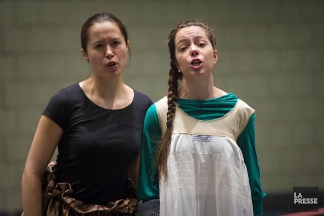 Frédérique Drolet (soprano) et Emma Char (mezzo), les... (PHOTO ANDRÉ PICHETTE, LA PRESSE)