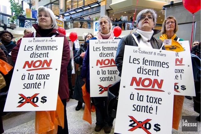 Des femmes ont fait connaître leur désaccord sur... (PHOTO ROBERT SKINNER, ARCHIVES LA PRESSE)