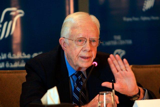 L'ancien président américain Jimmy Carter.... (Photo Mahmud Ham, archives Agence France-Presse)