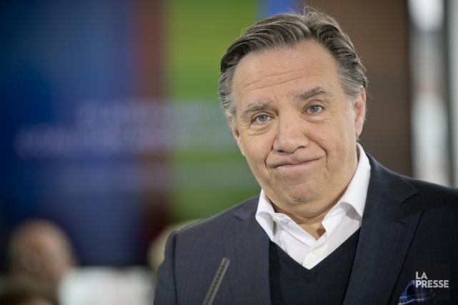 Le chef de la CAQ, François Legault... (Photo David Boily, La Presse)