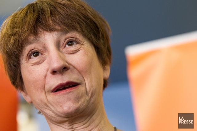 La porte-parole de Québec solidaire, Françoise David... (Photo Hugo-Sebastien AUBERT, La Presse)