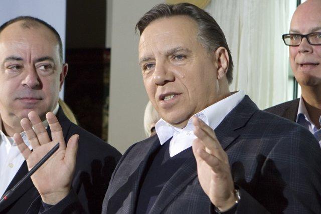 En conférence de presse sur les enjeux de... (PHOTO LA PRESSE CANADIENNE)