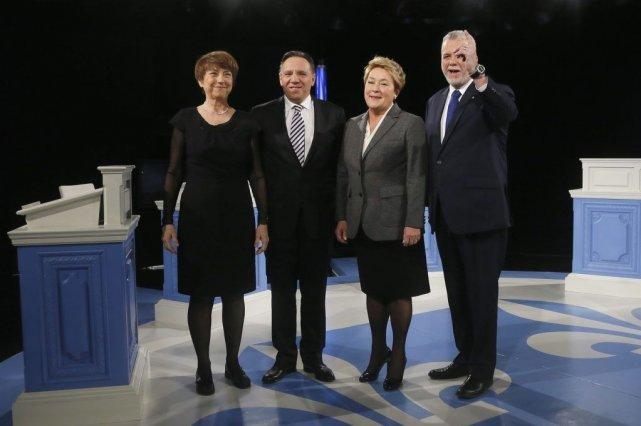 Les principaux partis politiques et leurs chefs, Françoise... (PHOTO CHRISTINNE MUSCHI, REUTERS)