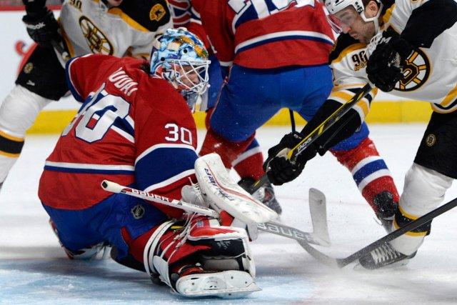 Peter Budaj était devant le filet du Canadien... (Photo Eric Bolte, USA Today)
