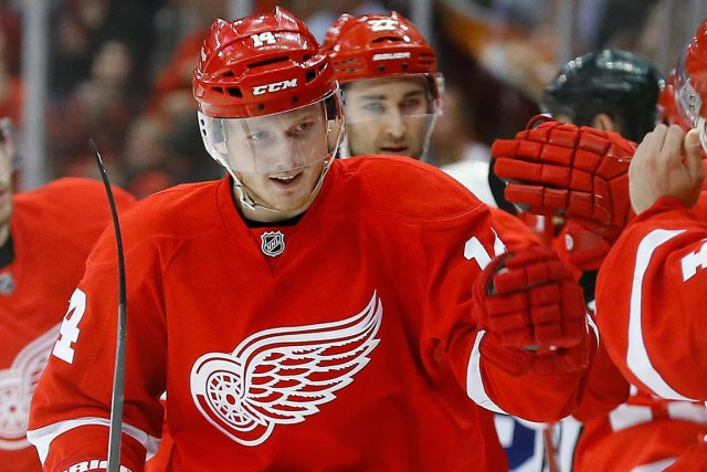 Gustav Nyquist a marqué six buts en quatre... (Photo Paul Sancya, AP)