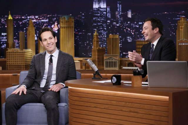 Jimmy Fallon recevait Paul Rudd le 25 février... (Photo: archives AP)