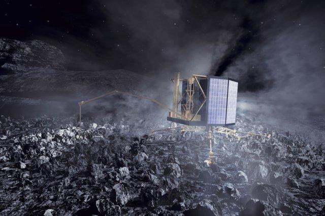 Philae est éteint depuis plus de trois ans,... (Photo AFP)