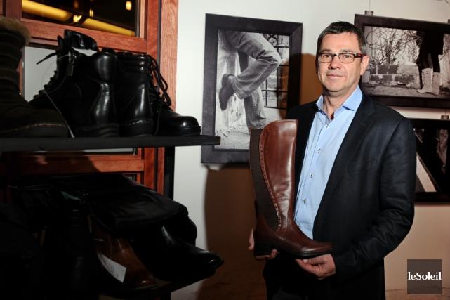 Christian Bergeron, président de Chaussures Régence.... (PHOTO ARCHIVES LE SOLEIL)