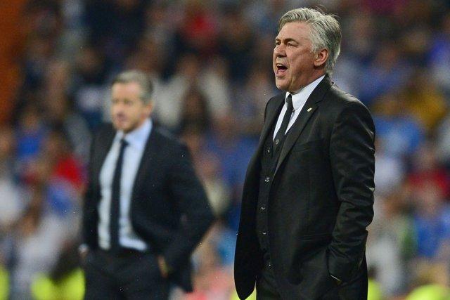 L'entraîneur du Real Madrid, Carlo Ancelotti.... (Photo Javier Soriano, AFP)