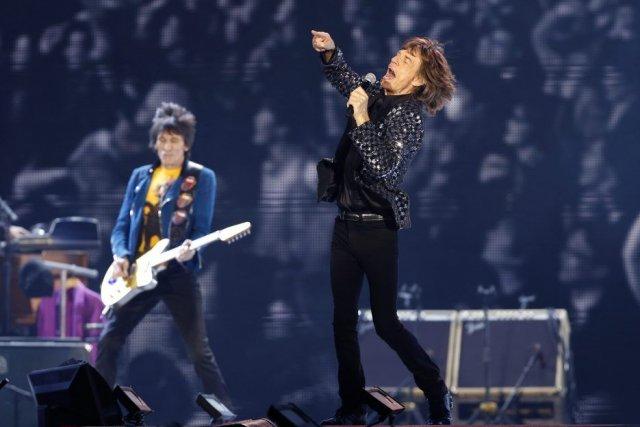 Les Rolling Stones en concert à Tokyo.... (Photo: AP)