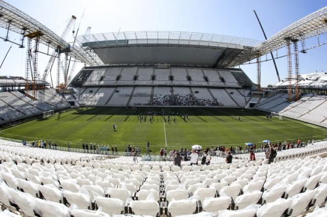 L'Arena Corinthians deSao Paulo doit accueillir le match... (Photo: AFP)
