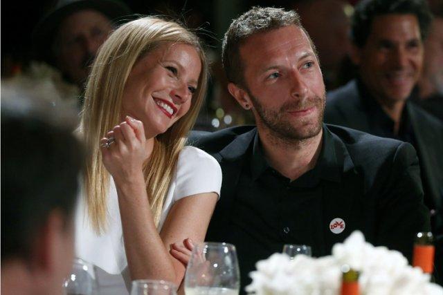 Gwyneth Paltrow et Chris Martin en janvier dernier.... (Photo: AP)