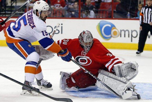 Les Islanders de New York ont bien failli bousillé une avance de 4-0, mais ils... (Photo: AP)