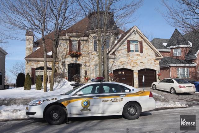 Une résidence cossue de Terrebonne a reçu la... (Photo Patrick Sanfaçon, La Presse)
