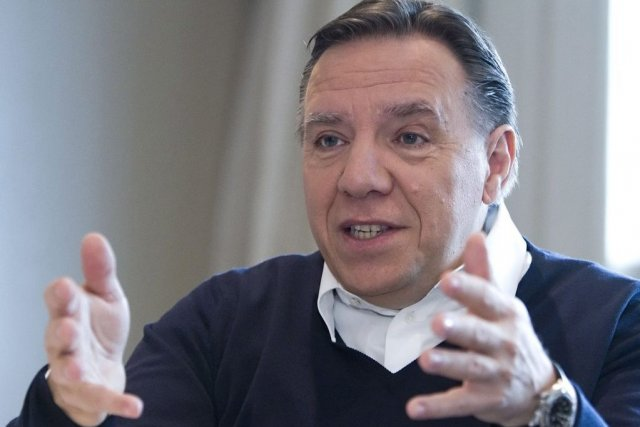 François Legault... (Photo La Presse Canadienne)