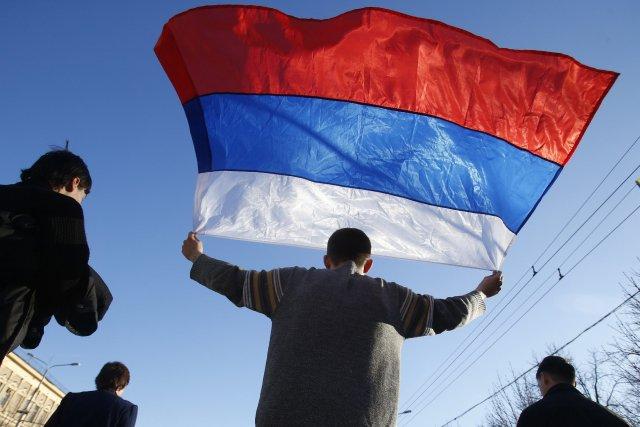 Les Russes ont achevé la prise de contrôle... (Photo Sergei Grits, AP)