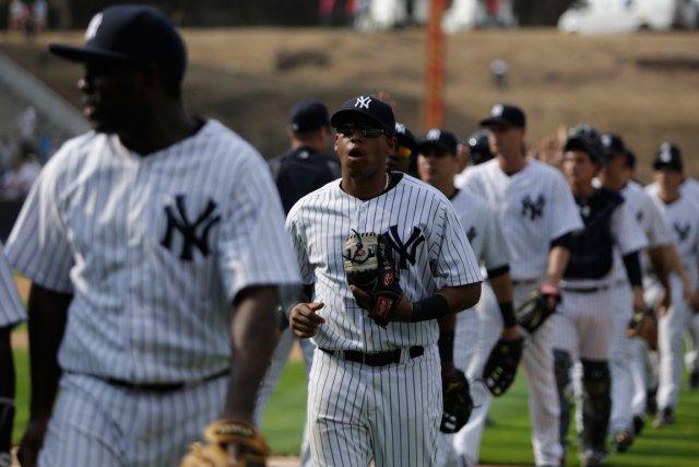 Les Yankees de New York sont l'équipe du baseball majeur qui a la valeur la... (Photo Carlos Jasso, Reuters)