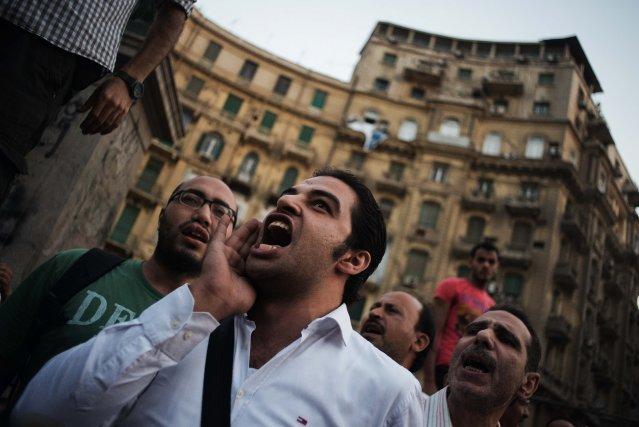 Depuis que les militaires ont destitué M. Morsi... (Photo GIANLUIGI GUERCIA, Archives AFP)