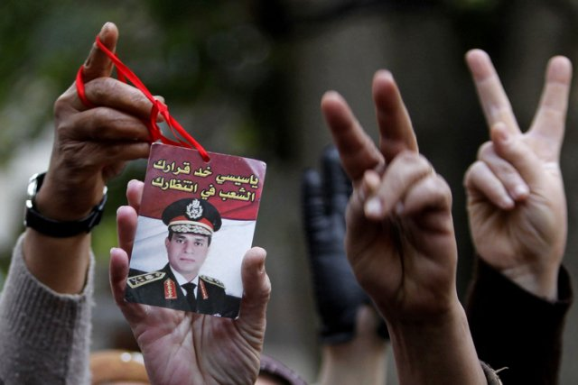Abdel Fattah al-Sissi, qui a annoncé mercredi qu'il serait candidat à la... (Photo: AP)