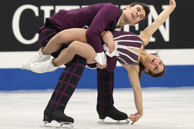Meagan Duhamel et Eric Radford... (Photo Kazuhiro Nogi, AFP)