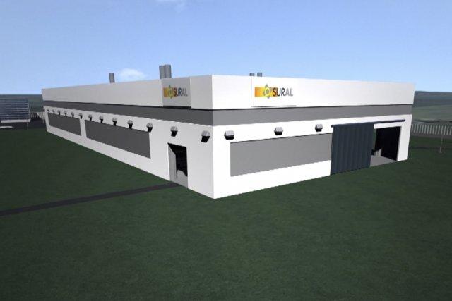 Image de la future usine de Sural Québec.... (PHOTO FOURNIE PAR LA CORPORATION DE DÉVELOPPEMENT ÉCONOMIQUE DE VICTORIAVILLE.)