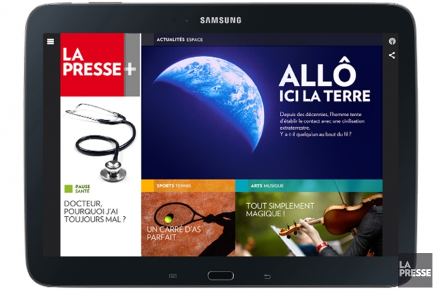 Depuis son lancement, l'édition numérique gratuite pour iPad La Presse+ connaît... (Photo archives La Presse)