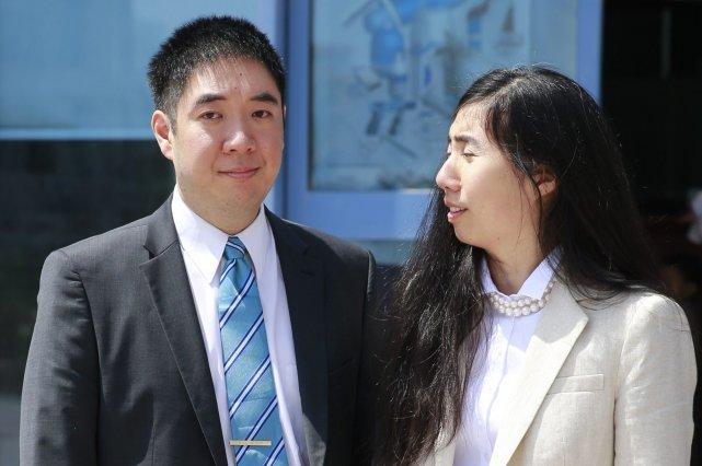 Matthew et Grace Huang avaient été arrêtés après... (Photo MOHAMMED DABBOUS, Reuters)