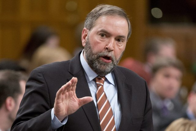Le chef du NPD Thomas Mulcair a rejeté... (Photo Adrian Wyld, PC)