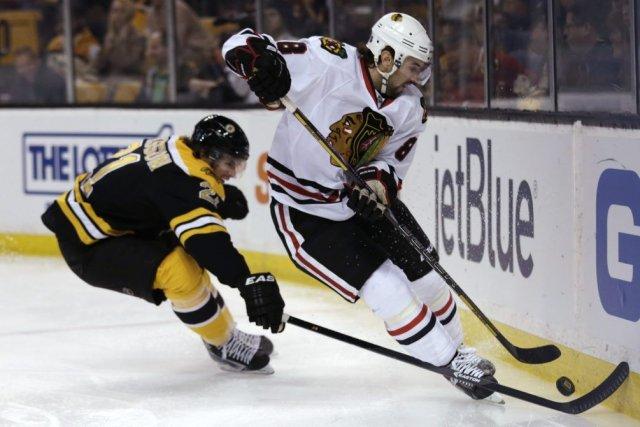 Patrice Bergeron a réussi un doublé et les Bruins de Boston ont blanchi les... (Photo AP)