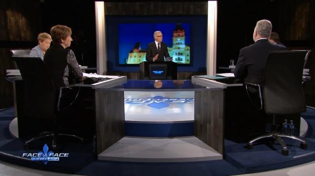 Le débat des chefs de TVA, sous la... (Photo tirée d'une vidéo du débat des chefs)