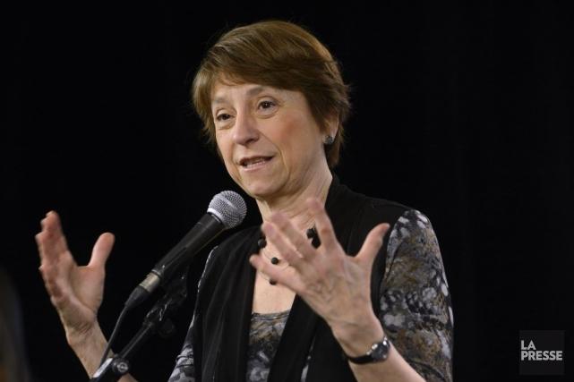La co-porte-parole de Québec solidaire Françoise David parle... (Photo Bernard Brault, La Presse)