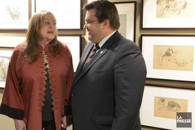 Le maire de Montréal a inauguré mercredi à... (Photo: Bernard Brault, La Presse)