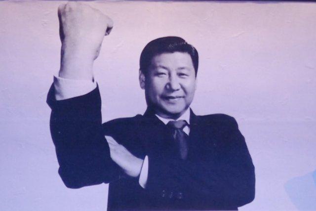 Un photomontage de RSF montrant le président chinois... (PHOTO RSF)