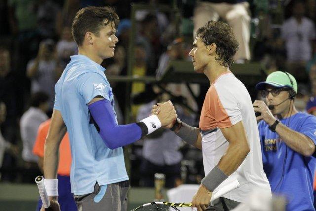 Milos Raonic a subi sa cinquième défaite face... (PHOTO LUIS M. ALVAREZ, AP)