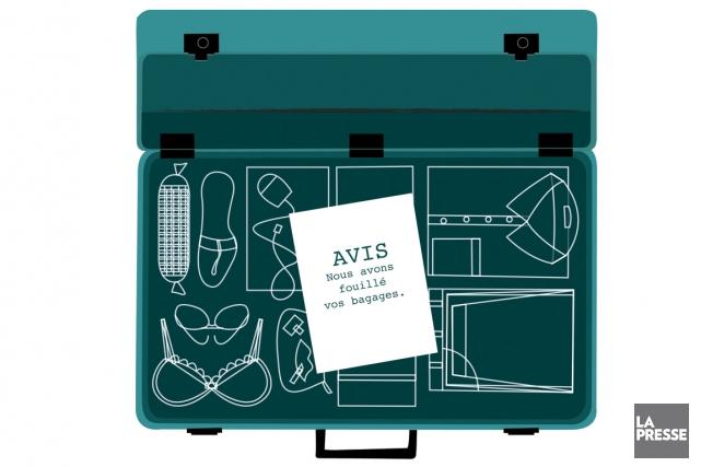 En défaisant nos bagages au retour d'un voyage, on s'attend à retrouver nos... (Illustration Julien Chung, La Presse)
