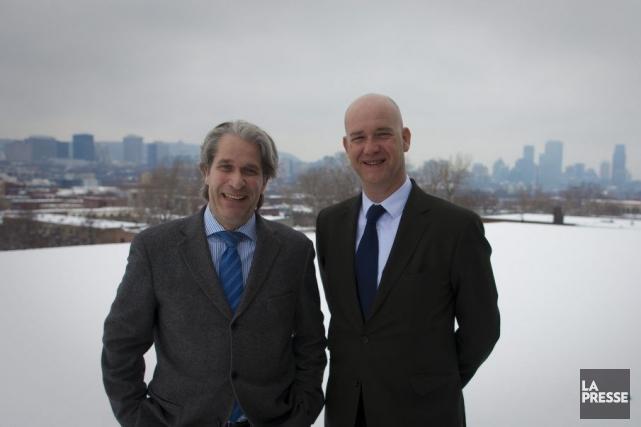 Les organisateurs du congrès Smart City Montréal 2014:... (Photo André Pichette, La Presse)