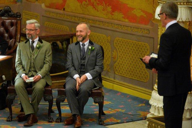 Andrew Wale et Neil Allard ont été parmi... (Photo Leon Neal, AFP)