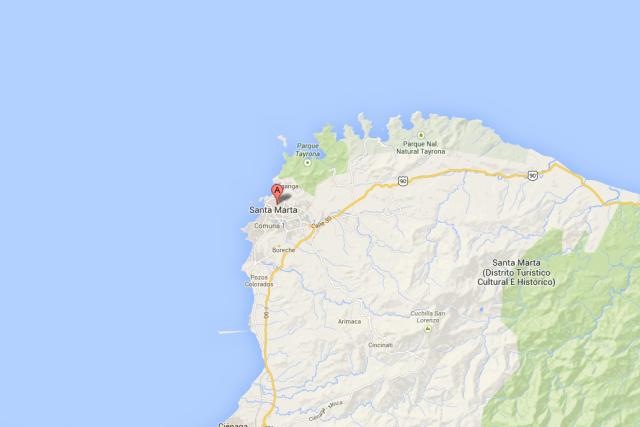 La cocaïne saisie dans le port de Santa... (Photo tirée de Google Maps)