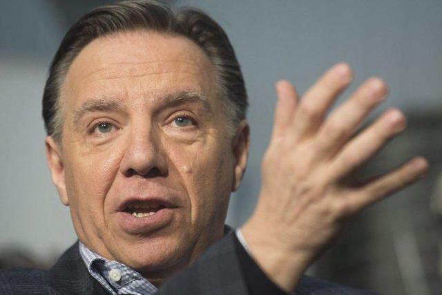 S'il est élu,François Legaults'activerait à abolir la taxe... (PHOTO LA PRESSE CANADIENNE)
