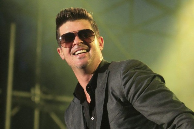 Robin Thicke doit observer un «repos vocal» obligatoire.... (Photo: archives La Presse Canadienne)