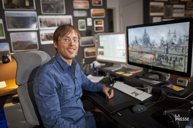 Mathieu Raynault, fondateur et directeur artistique du studio... (Photo: André Pichette, La Presse)