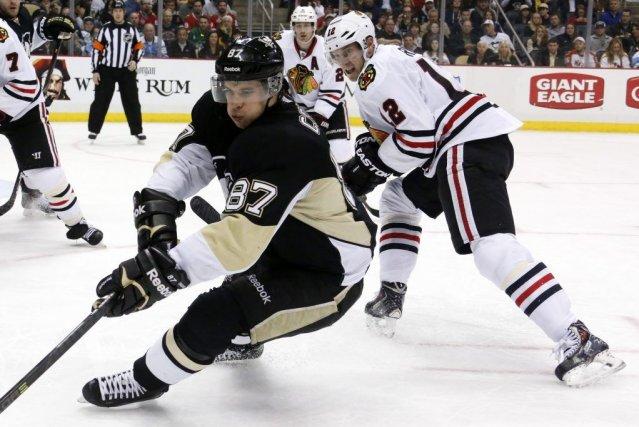 Sidney Crosby a marqué deux fois et les Penguins de Pittsburgh ont infligé un... (Photo: AP)