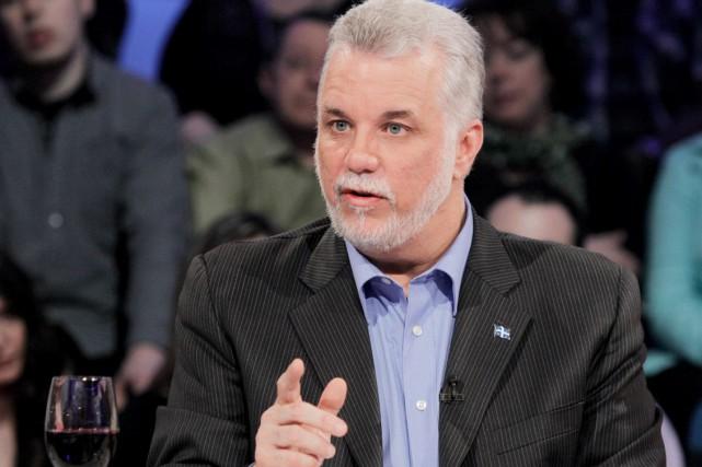 Le chef du Parti libéral du Québec, Philippe...