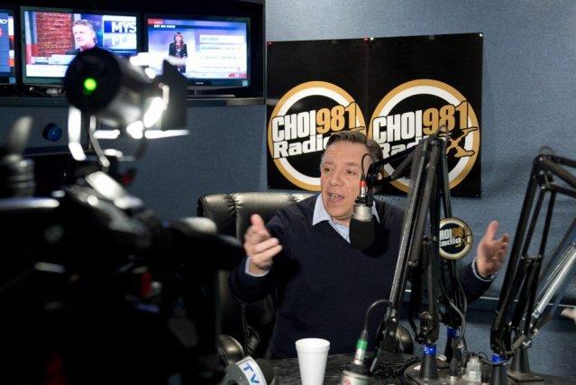 François Legault était en entrevue dans une radio... (PHOTO LA PRESSE CANADIENNE)