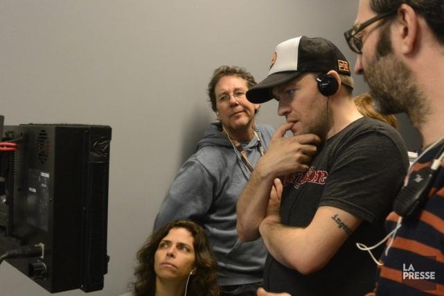Le réalisateur Rafaël Ouellet au travail.... (Photo: Bernard Brault, La Presse)