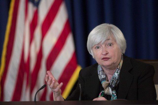 Janet Yellen, présidente de la Réserve fédérale américaine... (Photo Andrew Harrer, Bloomberg)