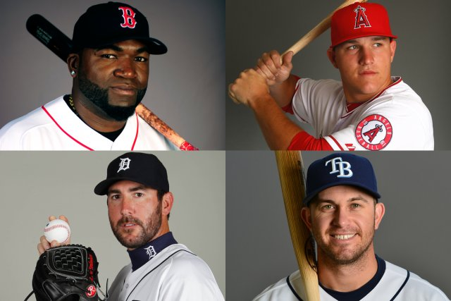 En haut: David Ortiz (Red Sox de Boston)... (Photomontage LaPresse.ca)