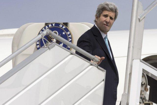 Le secrétaire d'État américain, John Kerry.... (PHOTO JACQUELYN MARTIN, AFP)