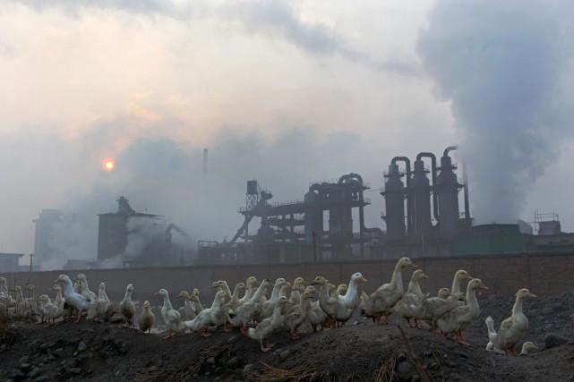 Il n'est pas rare que des pollutions industrielles... (Photo AFP)