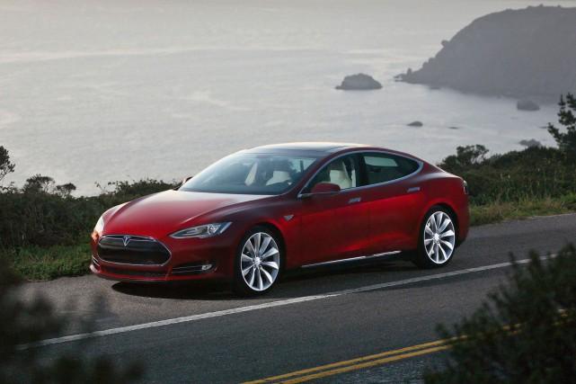 Le modèle S de Tesla.... (Photo fournie par Tesla)
